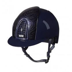 Jezdecká helma KEP Cromo Polish Zebra Blue