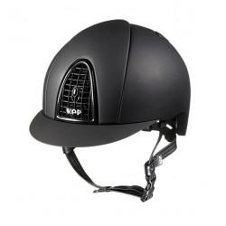 Jezdecká helma KEP Cromo Mat Black Grid