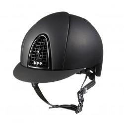 Jezdecká helma KEP Cromo Matt Black Grid (DaJ)