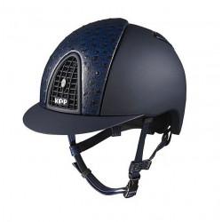Jezdecká helma KEP Cromo Textile Blue Mat